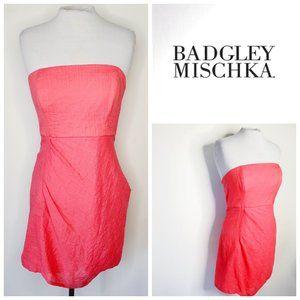😍 BADGLEY MISCHKA Coral Strapless Dress
